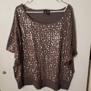 New Directions Sequin tunic